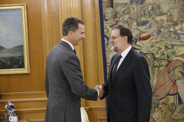 Don Felipe junto a Mariano Rajoy Brey, del Partido Popular (PP) © Casa de S.M. el Rey