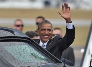 Barack Obama a su llegada a Cuba.