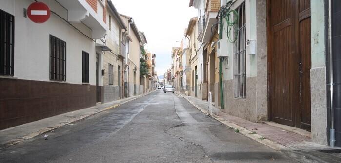 Calle Campillo en la localidad de  Cheste.