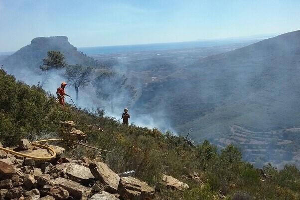 Detienen a dos personas como presuntos responsables por el incendio forestal de la Sierra Calderona.