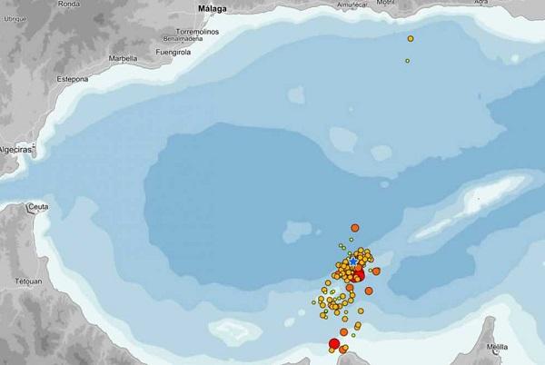 Dos nuevos terremotos de magnitud 5,1 y 5,6 en el Mar de Alborán alcanzan la ciudad de Melilla.