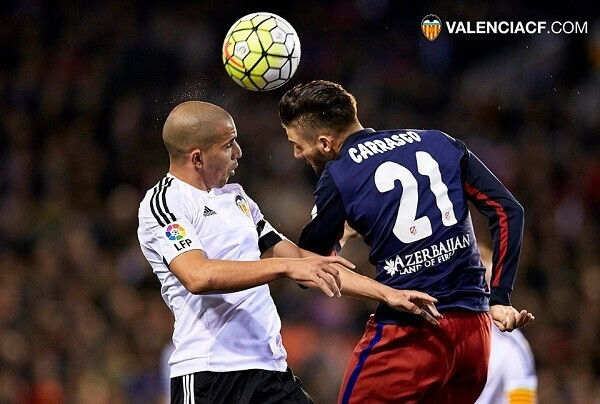 06.03.2016. Mestalla Stadium, Valencia, Spain. La Liga. Valencia versus Atletico Madrid.