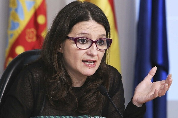 Rueda deprensa de la Vicepresidenta del Consell, Mónica Oltra, posterior a la reunión del Pleno del Consell. 23/03/2016. Foto: J.A.Calahorro.