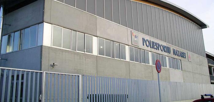 El polideportivo de Nazaret.