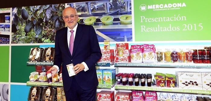El presidente de Mercadona en la presentación de resultados de la empresa. (Foto-Manuel Molines).