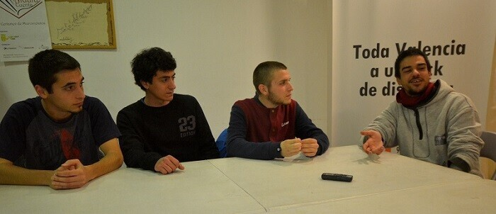 Gren, Turner, Ferry y Eden durante la entrevista.