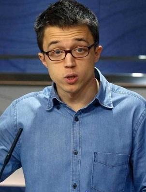 Iñigo Errejón, portavoz de Podemos en el Congreso de los Diputados.