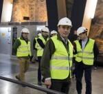 Ignacio Galán durante la visita a unas instalaciones