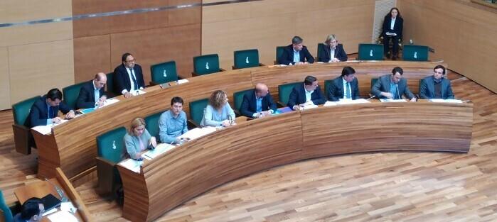 Imagen de un Pleno en la Diputación.