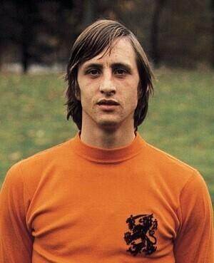Johan Cruyff con la seleccion holandesa.