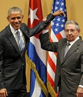 Obama y Castro en la rueda de prensa de ayer.