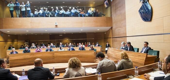 Pleno Diputación celebrado esta mañana. (Foto-Abulaila).