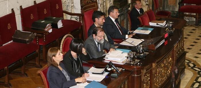 Pleno del Ayuntamiento en el día de hoy.