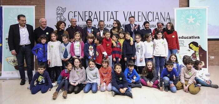 El President de la Generalitat, Ximo Puig, asiste a la presentación de Primavera Educativa. 07/03/2016. Foto: J.A.Calahorro.