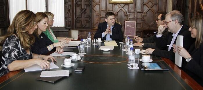 Puig durante la reunión del Consell.