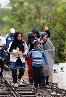 Refugiados sirios en Turquía.