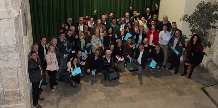 Reunión de alcaldes en la Diputación provincial.