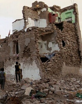 Un poblado de Yemen. (Foto-AFP).