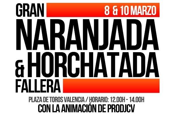 VII edición de la Gran Naranjada y Horchatada Fallera en la Plaza de Toros.