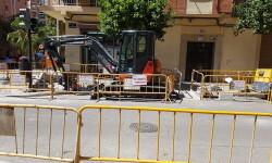 Arreglo de aceras y palmeras en el distríto de Zaidía (5)