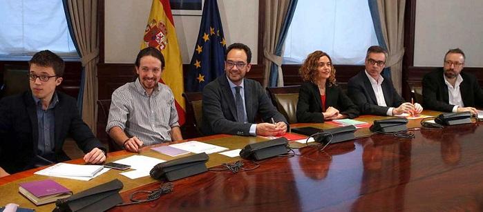 """Ciudadanos """"no ve posible"""" un acuerdo con Podemos."""