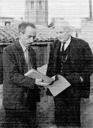 De Paula Llop con Ricardo Sanmartín en 1961. (Archivo J.Ll. Llop).