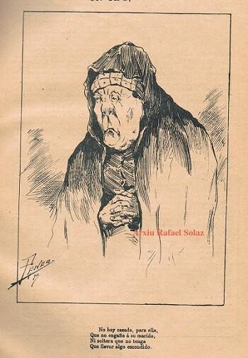 Dibujo de Valencia Cómica. 1891