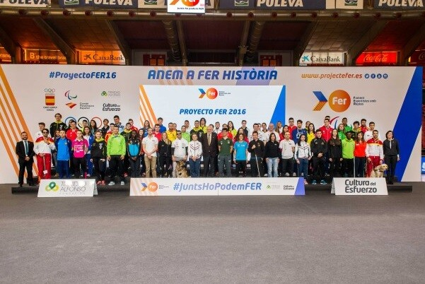 El Proyecto FER 2016 impulsa a los deportistas valencianos a Juegos Olímpicos y Paralímpicos de Río de Janeiro.