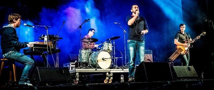 Feliu Ventura en una actuación en el Palau de la Música.