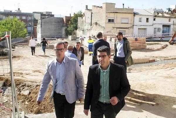 La Diputación invierte 600.000 euros en la rotonda de acceso y mejoras urbanas en L'Olleria. (Foto-Abulaila).