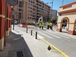 La calle Belchite de la ciudad de Valencia cortada por obras (2)