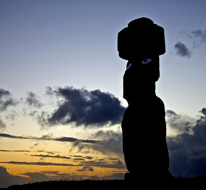 Un moai de la Isla de Pascua. / Valentí Rull