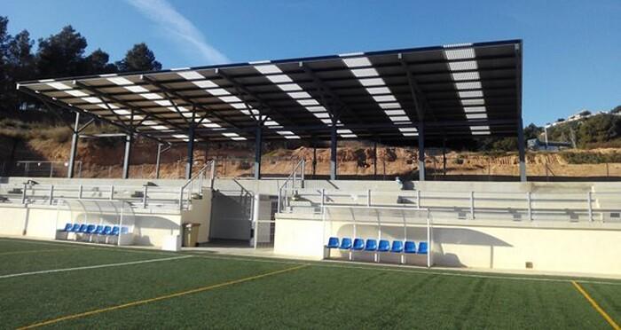 Parcelas en las que se construyó el campo de fútbol La Murta.
