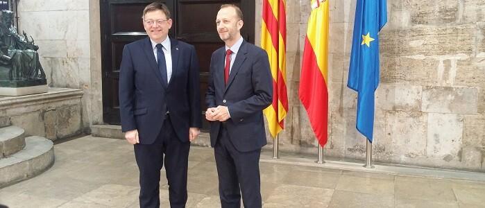 Puig y Marí tras la reunión mantenida esta mañana.