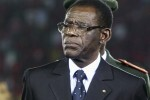 "Equatorial Guinea's President Teodoro Obiang Nguema Mbasogo attends the opening ceremony of the African Nations Cup soccer tournament in Estadio de Bata ""Bata Stadium"" in Bata January 21, 2012. REUTERS/Amr Abdallah Dalsh  (EQUATORIAL GUINEA - Tags: SPORT SOCCER POLITICS)"