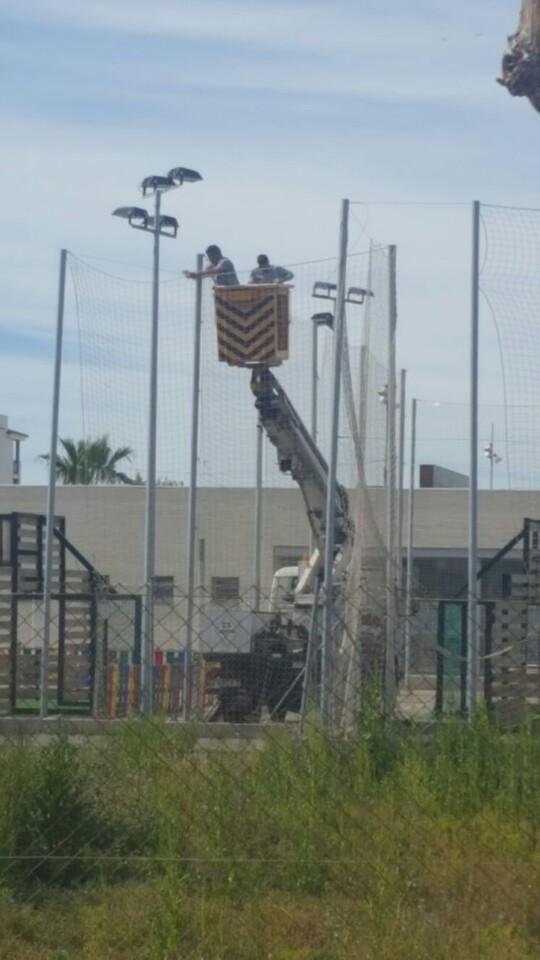 Trabajos de reparación zonas deportivas