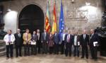 El President de la Generalitat, Ximo Puig, mantiene una reunión con el sector agroalimentario, acompañado por la consellera de Agricultura, Medio Ambiente, Cambio Climático y Desarrollo Rural, Elena Cebrián. 26/04/2016. Foto: J.A.Calahorro.