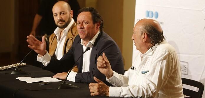 Óscar de Manuel, Aurelio Solana y Francis Montesinos. (Foto-Manuel Molines).