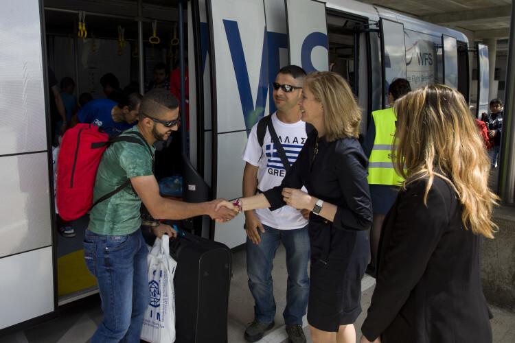 30/05/2016 Madrid, España Llegada a Madrid de refugiados procedentes de Grecia Fotografías: Diego Crespo / Presidencia del Gobierno