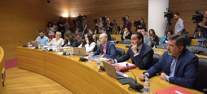 Alexis Marí en la Comisión de Investigación del accidente del Metro.