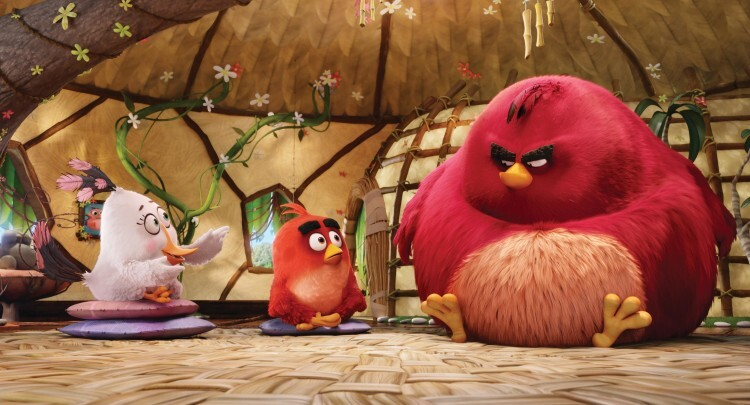 Matilda (Maya Rudolph), Red (Jason Sudeikis) and Terence in Columbia Pictures and Rovio Animation' class=