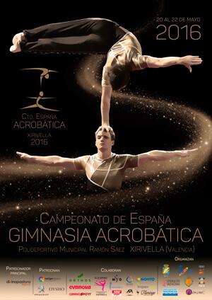 Cartel del evento deportivo.