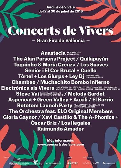 Cartel del los conciertos.