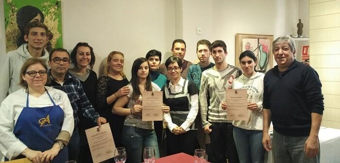 Curso de camareros realizado en Chiva.
