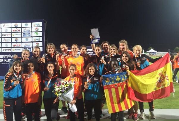 El Valencia Club de Atletismo  Subcampeonas de Europa en Mersin.