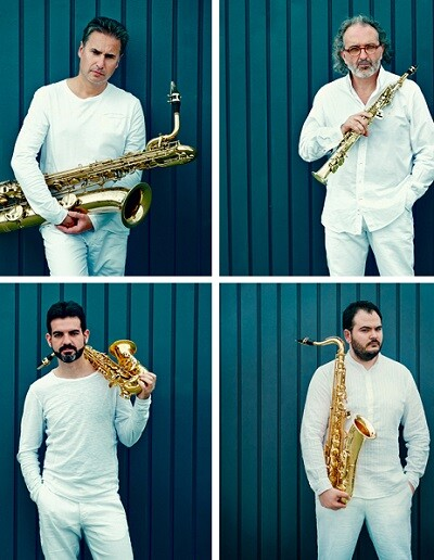 El cuarteto de saxofones Sigma Project.