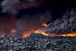 El incendio de neumáticos de Seseña arde sin crontol.