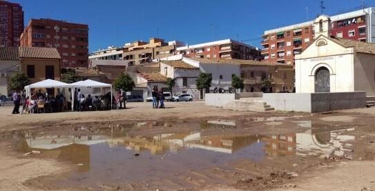 El vecindario del barrio de Orriols conocerá el proyecto definitivo de la plaza de Sant Jeroni.