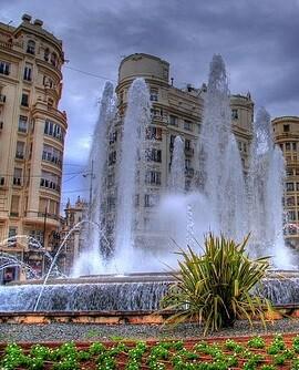 Fuente de la plaza del Ayuntamiento.