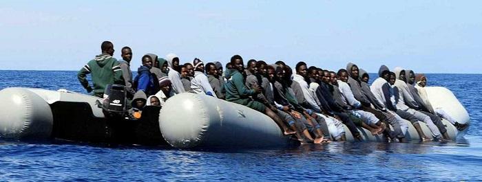 Imagen de uno de los botes rescatados.